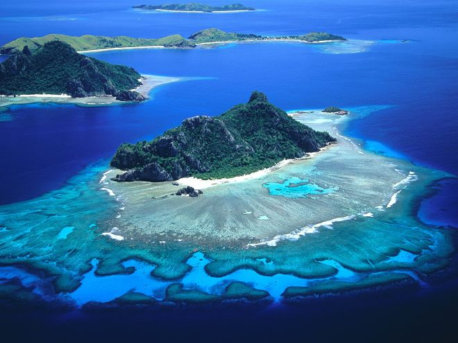 Fiji Monukiri and Monu - Aerial View