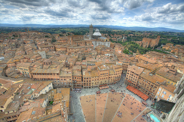 Siena, Tuscany from the Air
